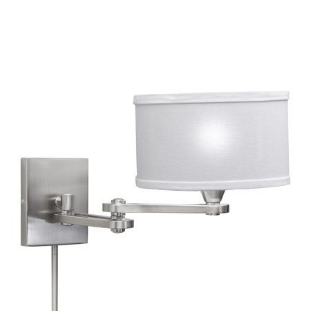 Aztec Lighting Transitional 1-light Chrome Swing Arm Pin-up Plug-in Wall