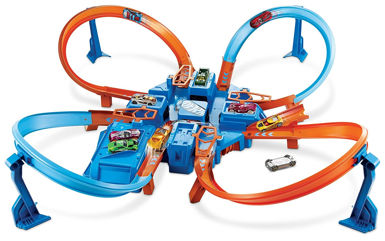 Criss Cross Crash Track Set, Fast shipping,Brand Hot Wheels by