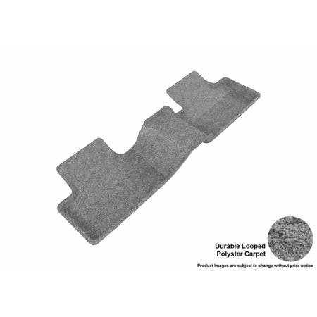 3D Maxpider 2012 2013 Land Rover Range Rover Evoque Second Row All Weather Floor Liner In Gray Carpet