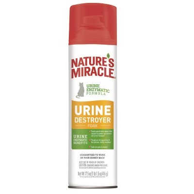 Nature's Miracle Cat Urine Destroyer Foam, For Tough Urine Messes 17.5oz