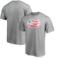 New England Revolution Fanatics Branded Big & Tall Primary Logo T-Shirt - Heathered Gray