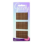 Goody SlideProof Bobby Pins, Brown, 60-count, Pack of 6 (1942223)