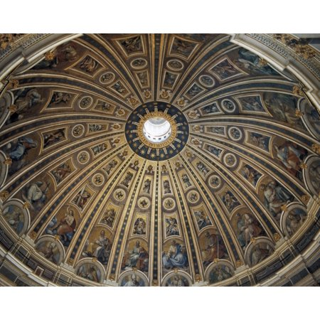 Interior Collection - Saint PeterS Basilica Vatican City Saint PeterS Basilica The Vatican  Basilica Of StPeterS  Interior Of Dome Renaissance Art Cinquecento Architecture  AisaEverett Collection Poster Print