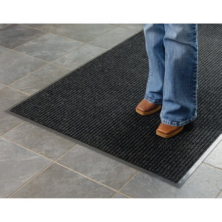 - Apache Mills Deep Cleaning Ribbed Entrance Mat, Charcoal, 24 x 36