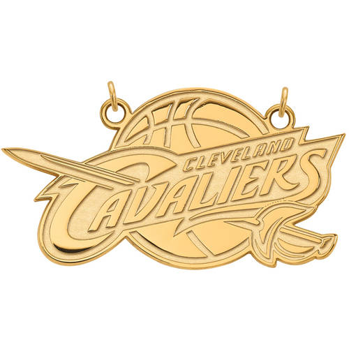 LogoArt NBA Cleveland Cavaliers 14kt Yellow Gold Large Pendant with Necklace