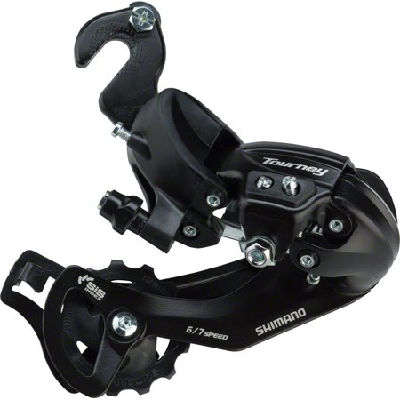 Shimano Tourney RD-TY300-SGS Rear Derailleur - 6,7 Speed, Long Cage, Black, BMX/Track Frame Hanger