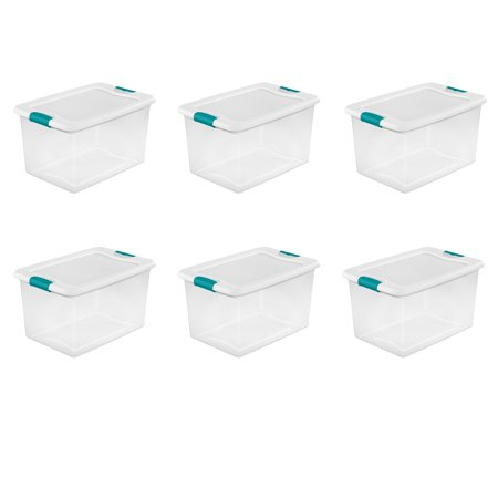 Sterilite, 64 Qt./61 L Latching Box, White, Case of
