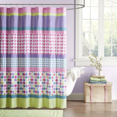 Home Essence Teen Linda Microfiber Shower Curtain