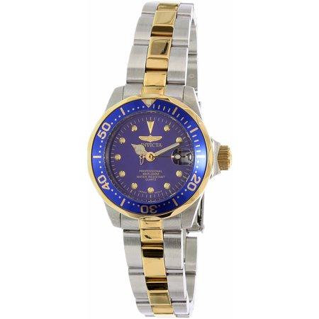 Pro Diver Blue Dial Two-tone Ladies Watch 17035 Deep Diver Silver Dial