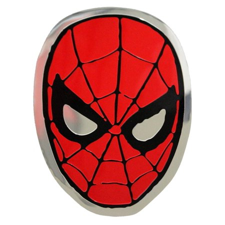 - Officially Licensed, Marvel Comics Retro Spider Man Mask Metal Sticker, 12cm