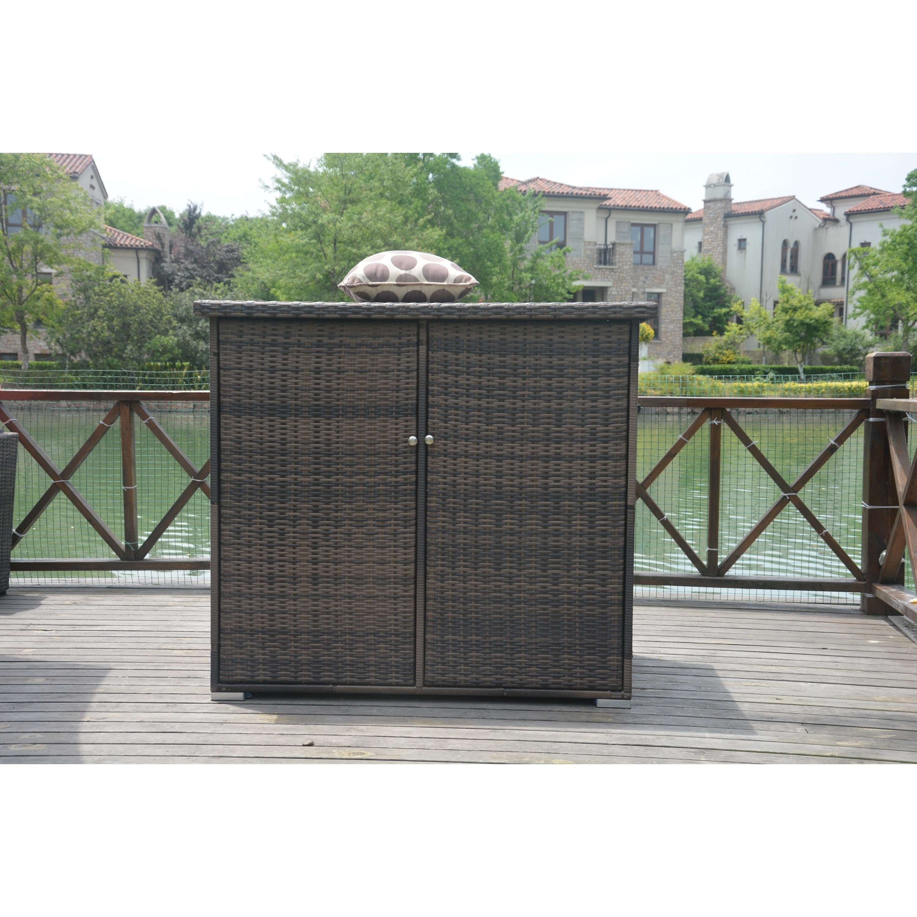 Direct Wicker Santa Rosa Wicker Garden Storage Shed with Lid by