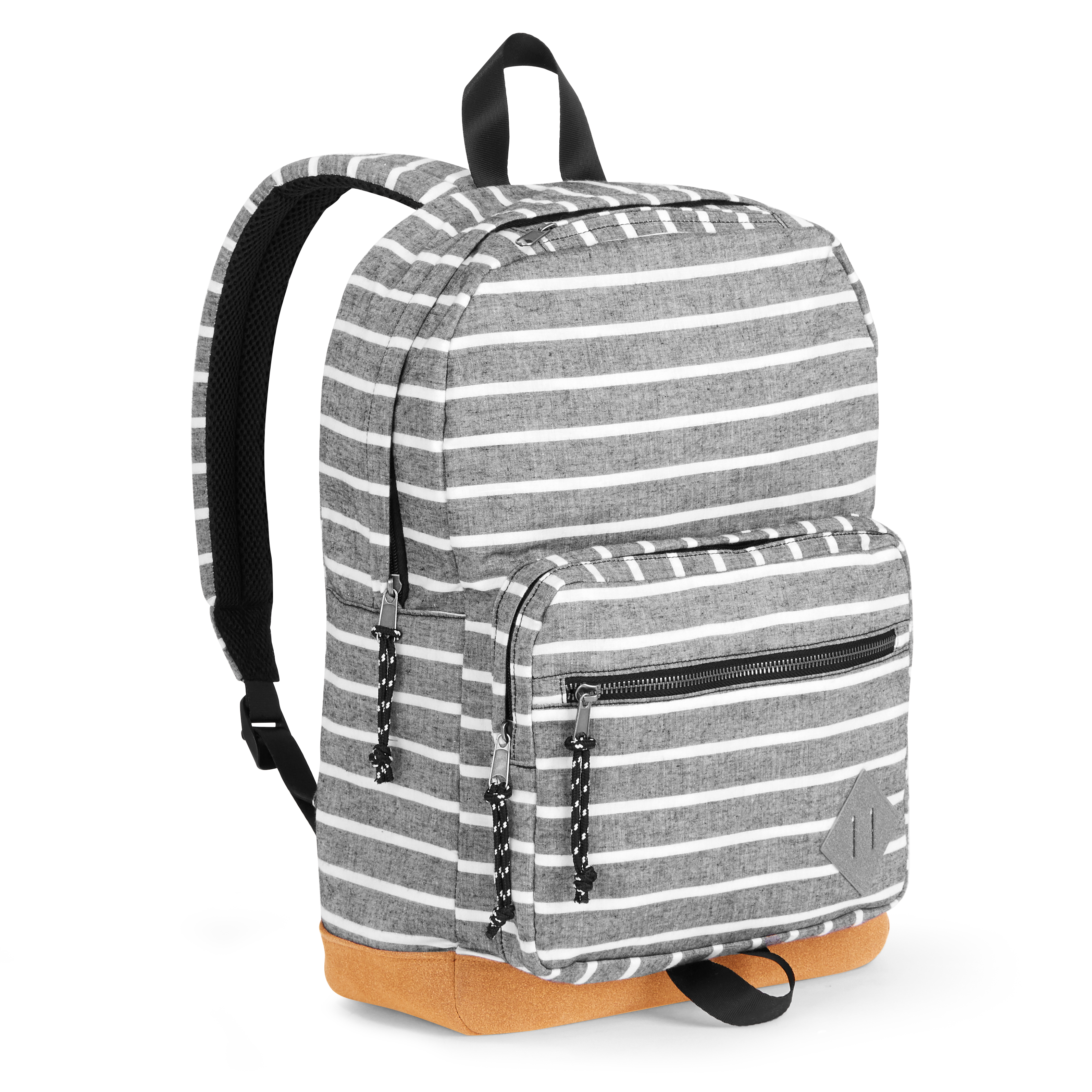 Grey Stripe Dome Backpack