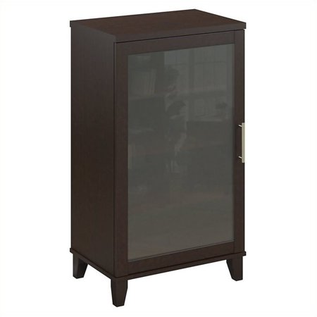 Pemberly Row Audio Cabinet or Bookcase in Mocha (Dark Mocha Wood Audio)