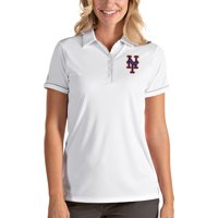 New York Mets Antigua Women's Salute Polo - White/Silver