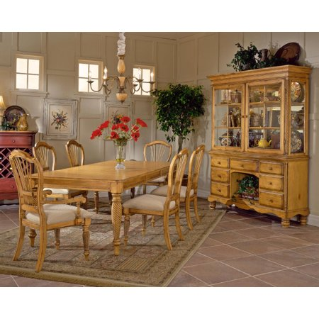 Hillsdale Wilshire 7 Piece Rectangle Dining Room Set in Antique Pine - Hillsdale Wilshire 7 Piece Rectangle Dining Room Set In Antique Pine