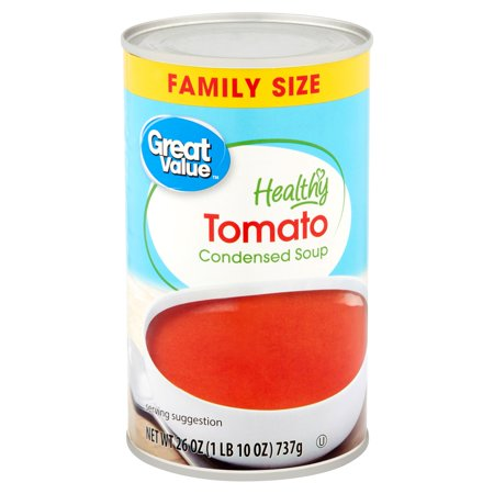(4 Pack) Great Value Healthy Tomato Condensed Soup Family Size, 26