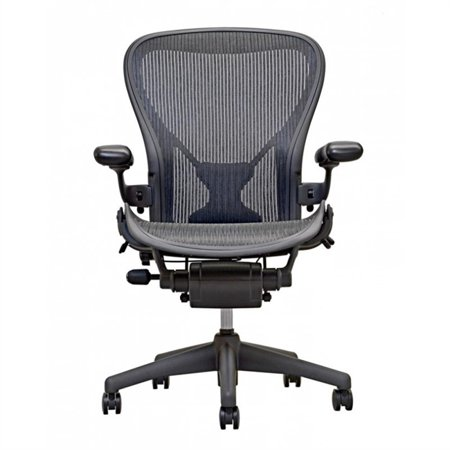 - Herman Miller Aeron Chair Size B  In Black With Posturefit