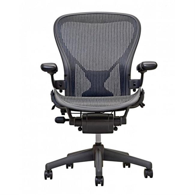 Herman Miller Aeron Chair Size B  In Black With Posturefit