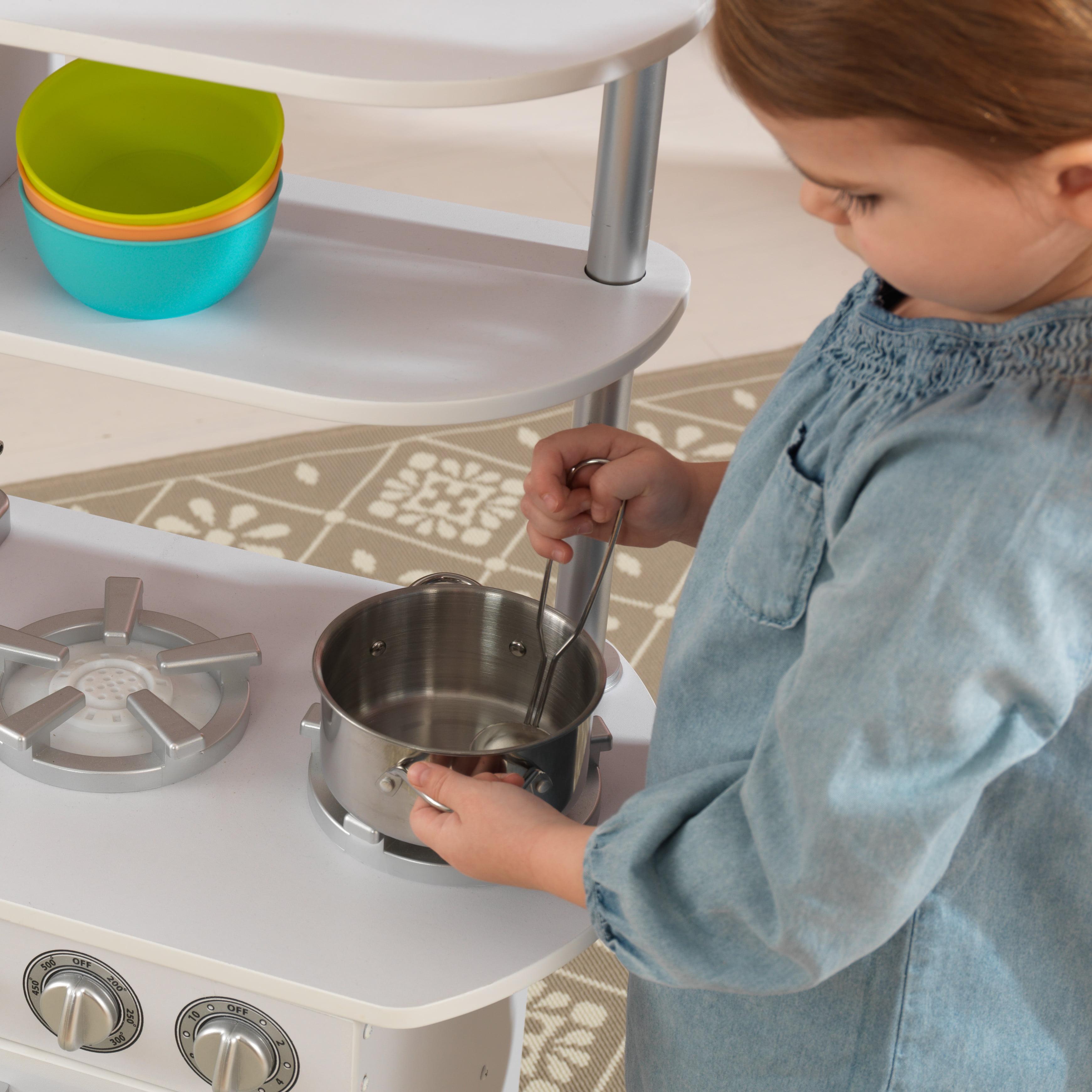 kidkraft vintage play kitchen white walmart