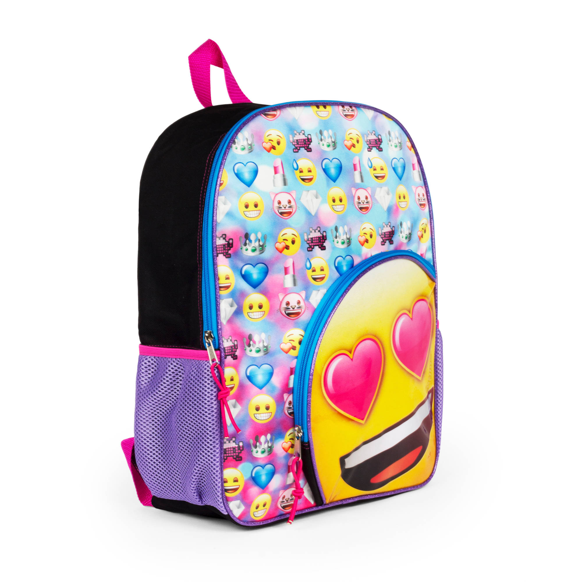 "16"" Emoji Backpack with Round Pocket by"