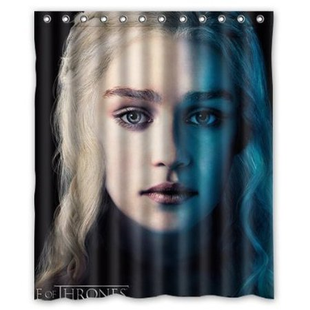 Deyou Game Of Thrones Emilia Clarke Shower Curtain Polyester Fabric Bathroom Shower Curtain Size 60X72 Inches