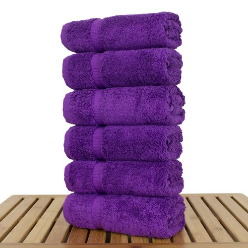 Bare Cotton Orchid 100pct Cotton Hand Towel (Set of 6)