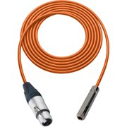 Sescom SC1.5XJSJZOE Audio Cable Canare Star-Quad 3-Pin XLR Female to 1/4 Inch TRS Female Orange - 1.5 Foot