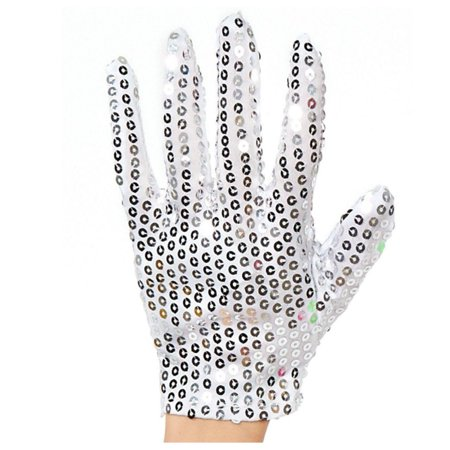 Child Size Unlit Michael Jackson Left Hand Sequin Glove](Michael Jackson Kids Glove)