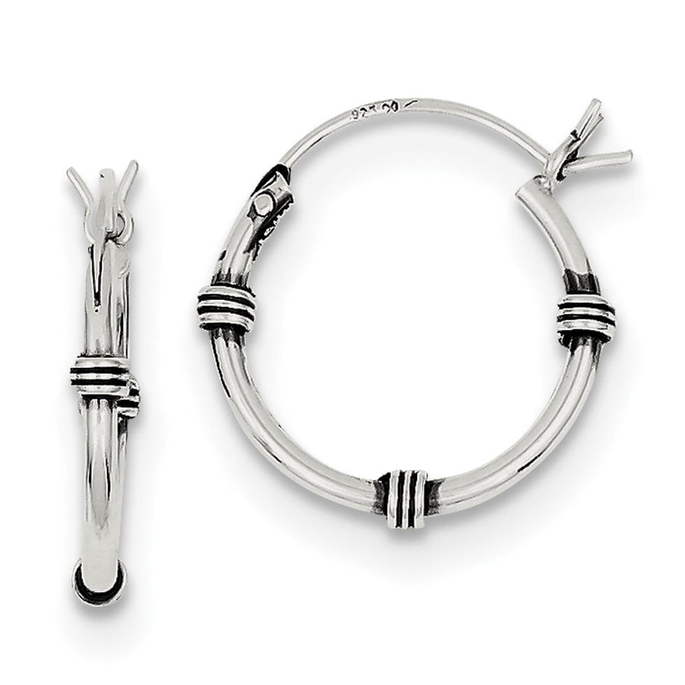 925 Sterling Silver Hoop (2x18mm) Earrings