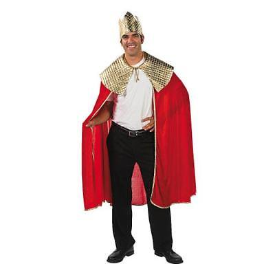 Wise Man Costumes (IN-36/2692 Men's Red Wise Man's Cape with Crown)