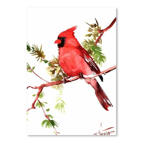 Americanflat 'Red Cardinal' by Suren Nersisyan Print
