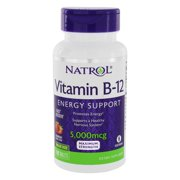 Natrol - Vitamin B12 Maximum Strength Energy Support Fast Dissolve Strawberry 5000 mcg. - 100 Tablet(s)