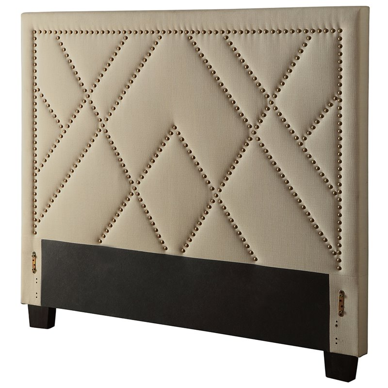 Modus Geneva Upholstered California King Panel Headboard in Powder by