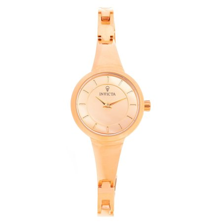 Invicta 23318 Womens Gabrielle Union Rose Gold Dial Rose Gold Steel Watch And Bangle Bracelet Set