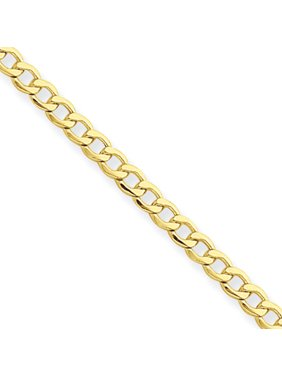 14kt Yellow Gold 2.5mm Semi-Solid Curb Link Chain