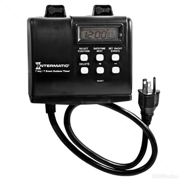 Intermatic HB880R 15-Amp 7 Day Programmable Weatherproof Outdoor Digital Timer for Control of Light, Pump, Heater, Fan with Astronomic Self Adjust