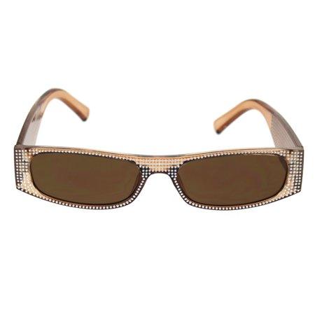 80s Disco Narrow Rectangular Bling Engraving Plastic Pimp Sunglasses All (Sunglasses Engraving Machine)