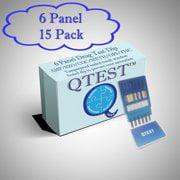 (1 Pack) QTEST 6 Panel Urine Drug Test Dip AMP/BZO/COC/MAMP/OPI/THC