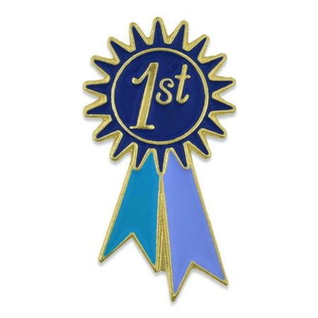 PinMart's 1st Place Prize Blue Ribbon Enamel Lapel