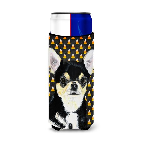 Chihuahua Candy Corn Halloween Portrait Ultra Beverage Insulators for slim cans SC9197MUK