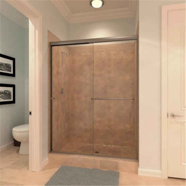 Amora Shower Door T-1/4-72x70-3/8BN-CL Euro Style Bi-Pass...