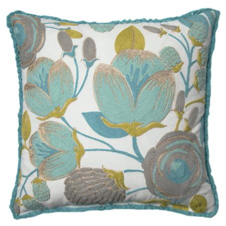 Green Pillows (Better Homes and Gardens Blush Bloom Accent Pillow, Green, 18