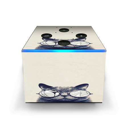 Skin Decal for Amazon Fire TV CUBE + REMOTE / Cool Cat Kat Shades Glasses Tumblr - Cute Cat Halloween Makeup Tumblr