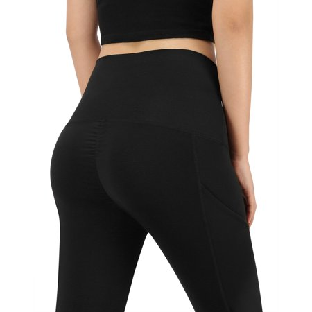 - HDE Workout Capri Leggings for Women Butt Lifting 3/4 Length Pocket Yoga Pants (Black, Medium)