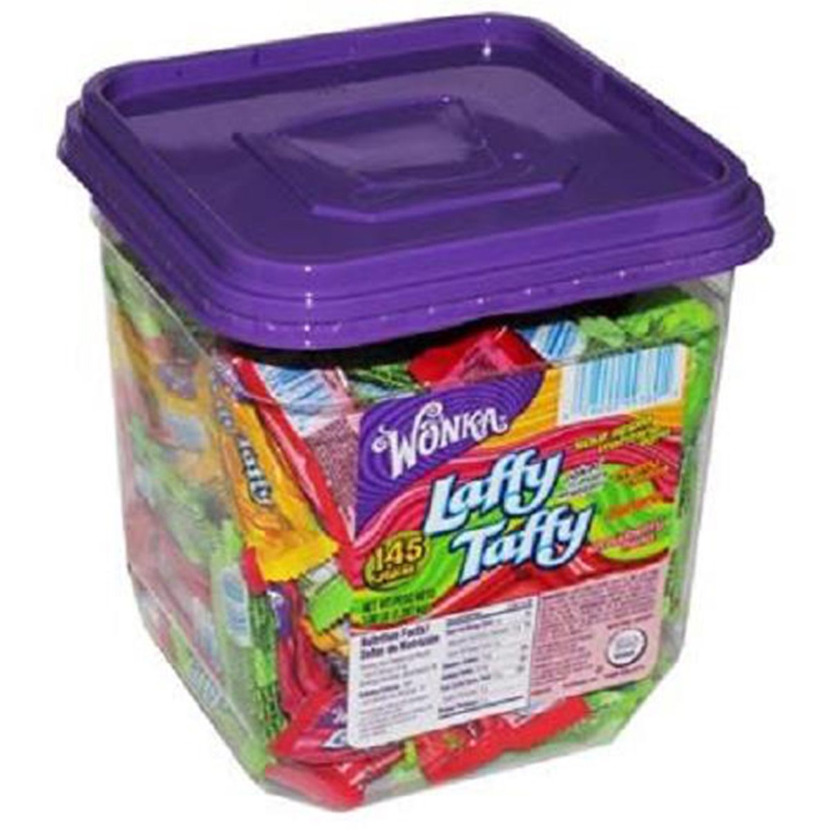 Product Of Laffy Taffy, Assorted - Tub, Count 145 (0.34 oz) - Sugar Candy / Grab Varieties & Flavors