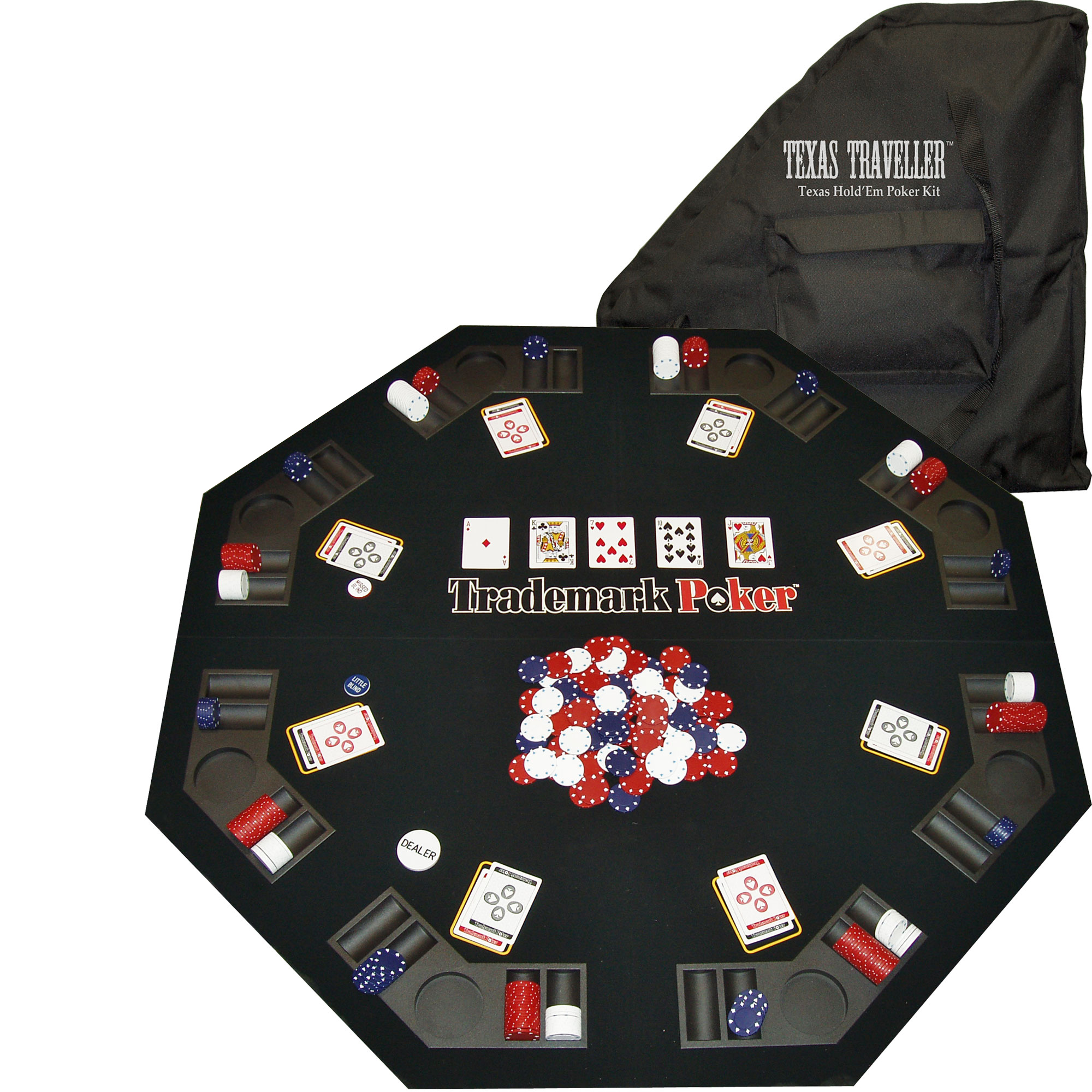 TEXAS TRAVELER - Table Top & 300 Chip Travel Set