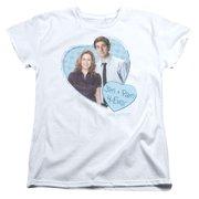 The Office Jim & Pam 4 Ever Womens Short Sleeve Shirt