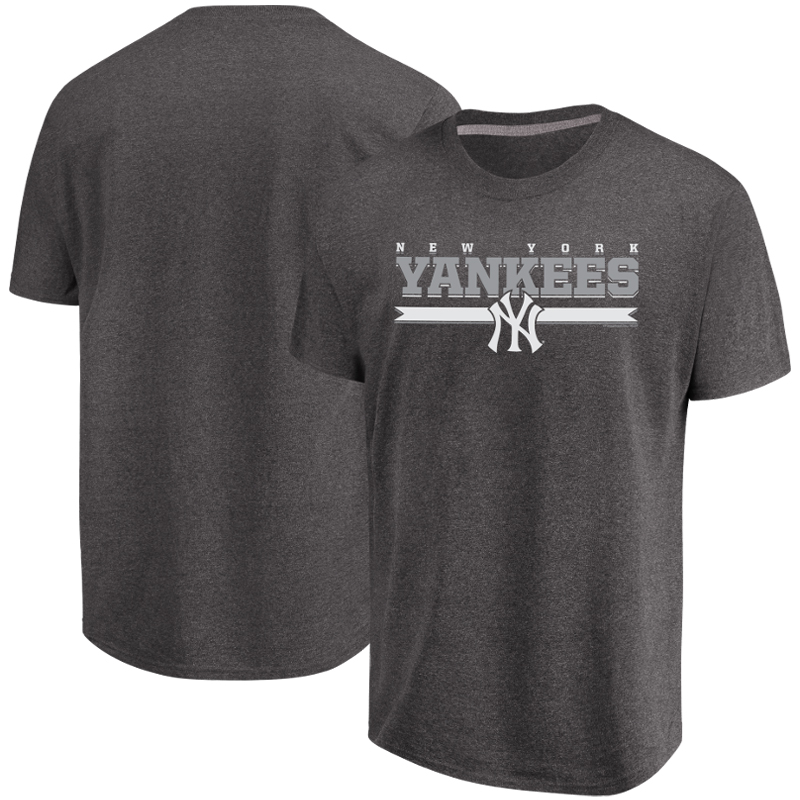Men's Majestic Heathered Charcoal New York Yankees All Pride T-Shirt