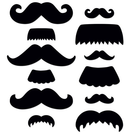 Mustache Medley 6-Inch Designer Cut-Outs (0955), 216 pieces per package By Creative Teaching Press](Mustache Cut Outs)