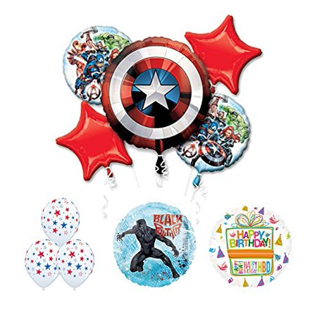 The Ultimate Avengers Black Panther Birthday Party Supplies and Balloon - Avengers Decoration